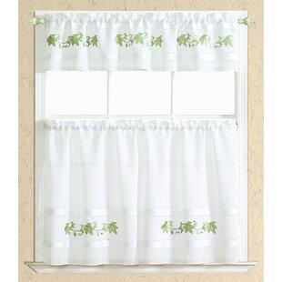 Beau Sage Green Kitchen Curtains | Wayfair