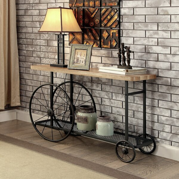Gracie Oaks Springport Industrial Console Table Amp Reviews