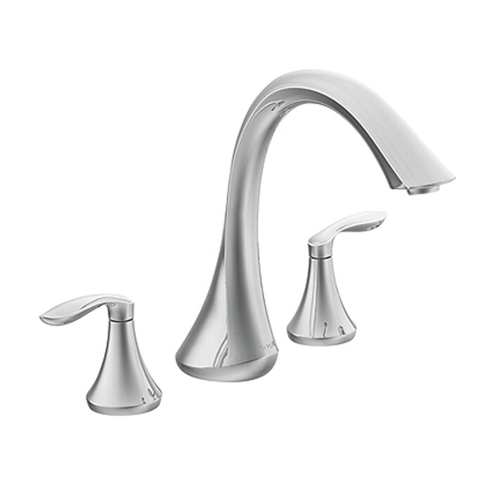 Eva Double Handle Deck Mount Roman Tub Faucet Trim Lever Handle. Bathtub Faucets You ll Love