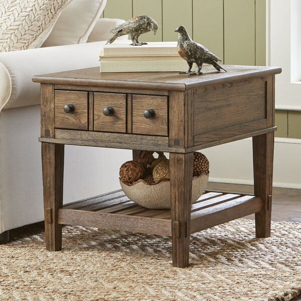 Derrickson Side Table With Drawers Amp Reviews Birch Lane