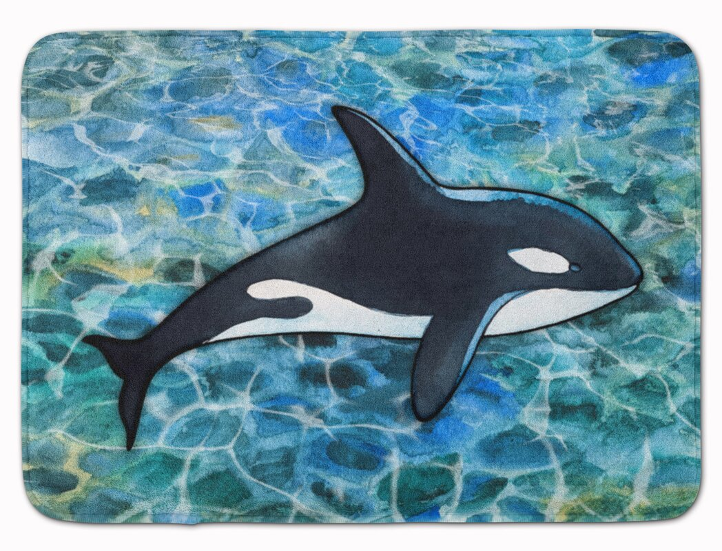 latitude run colbin killer whale orca memory foam bath rug | wayfair
