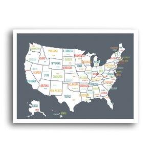 Usa Map Wall Art Wayfair - Us map wall art