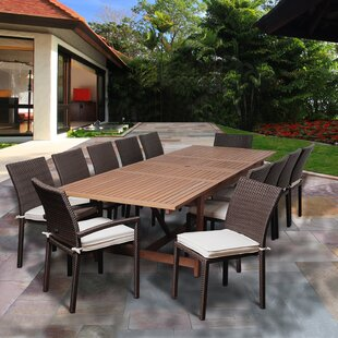 Bridgepointe Eucalyptus 13 Piece Dining Set