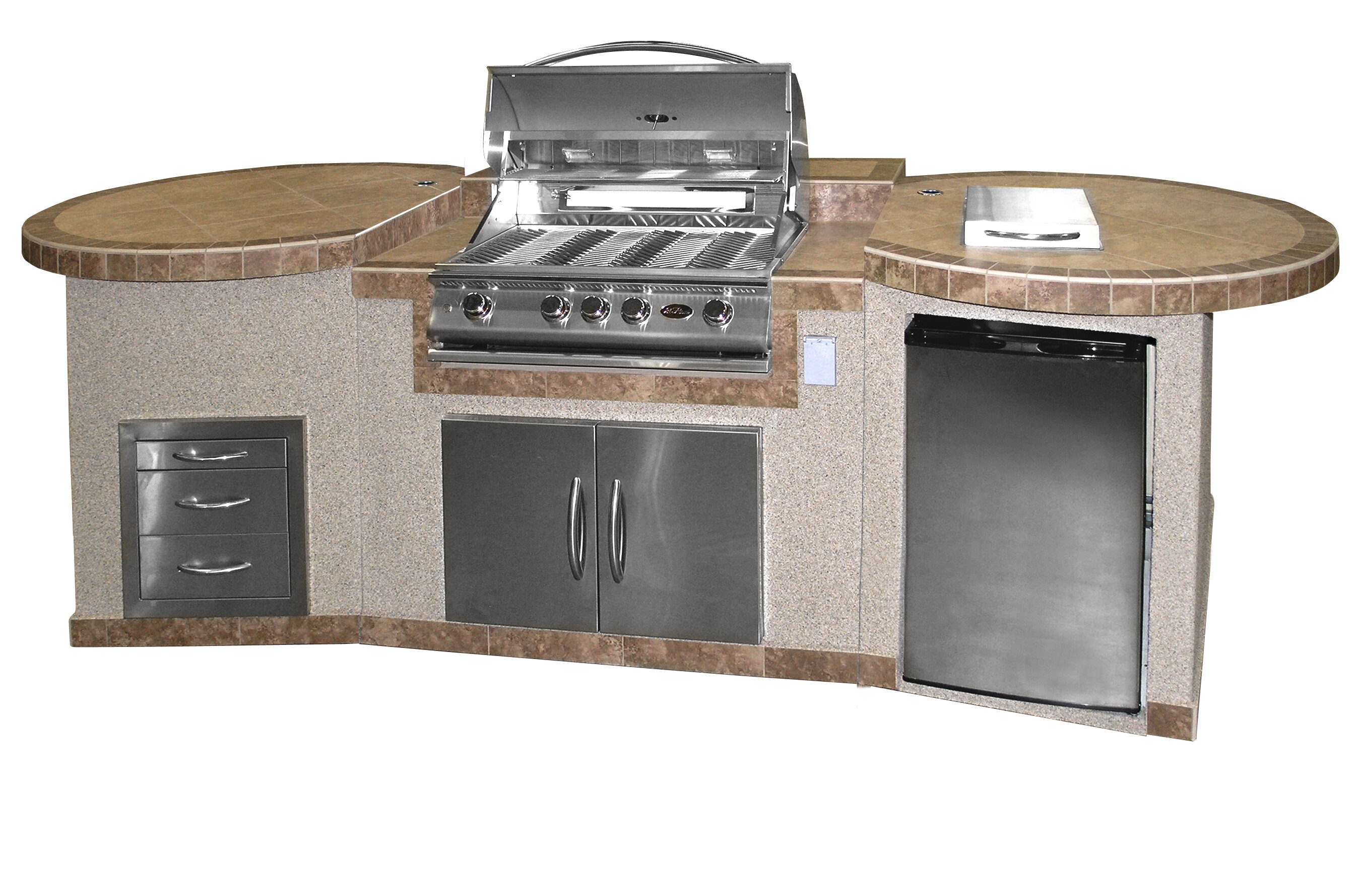 Cal Flame 4-Burner Built In Propane Gas Grill with Cabinet | Wayfair