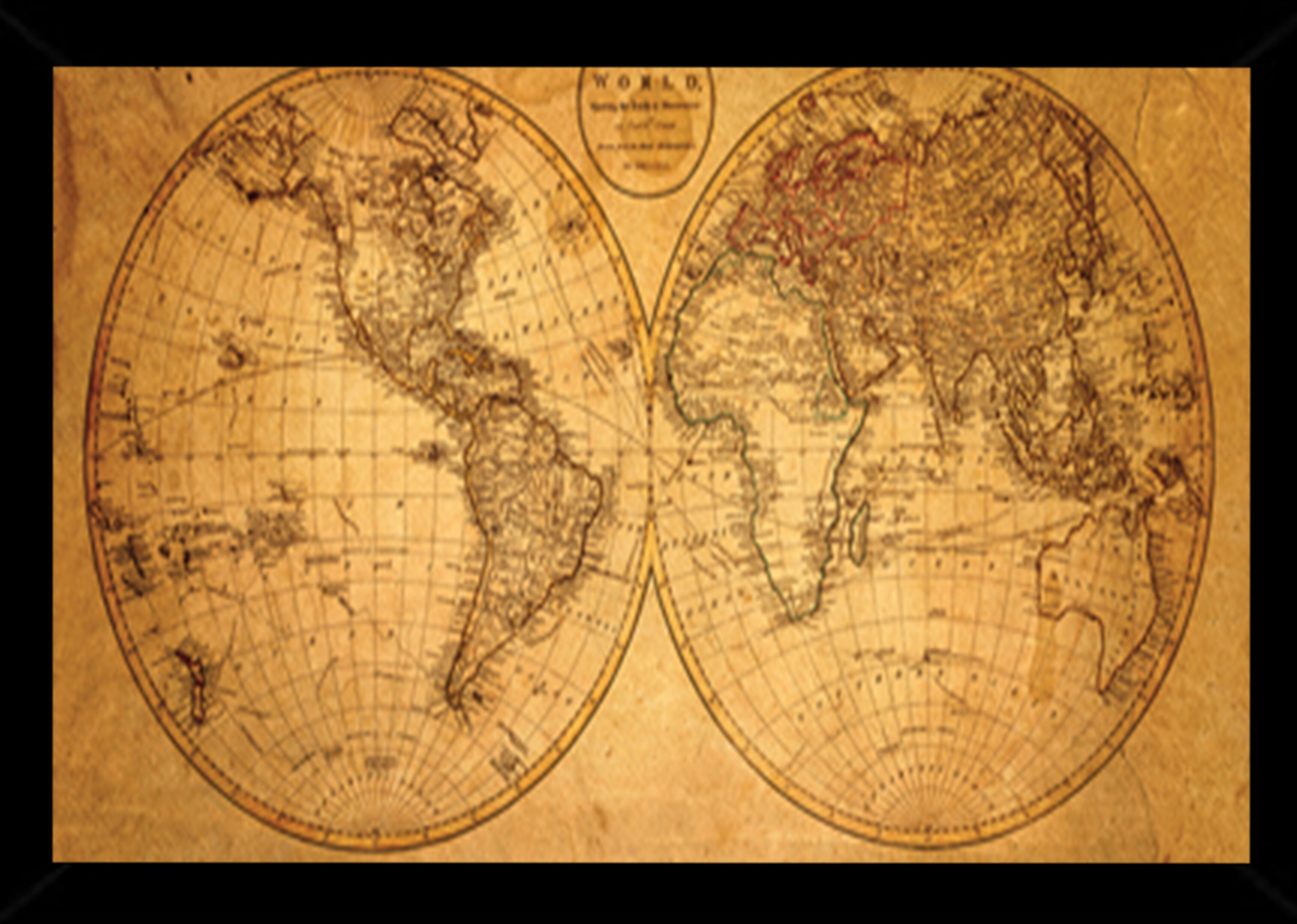 b526f76bcaa Frame USA  Old World Map  Framed Graphic Art Print