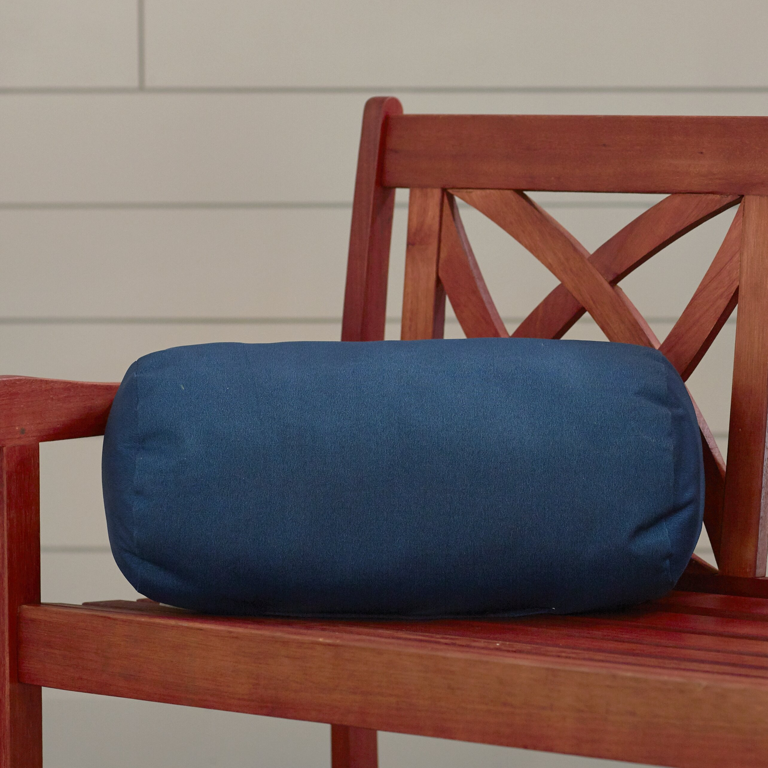 Alcott Hill Vintondale Indoor/Outdoor Solid Round Bolster Pillow & Reviews | Wayfair