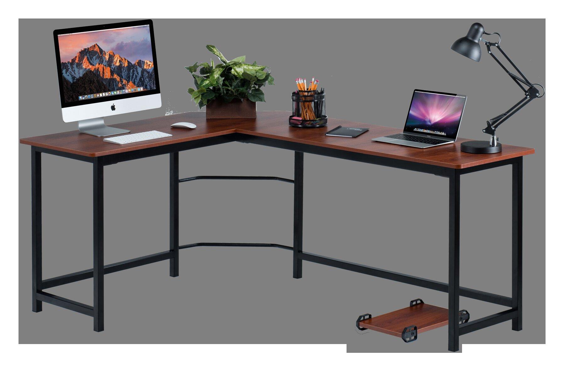 shaped sauder desks desk l computer hills products orchard corner