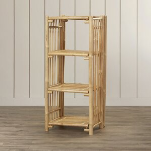 Porter Bamboo End Table with 3 Shelves by Bay Isle Home
