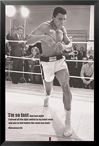 Buy Art For Less Muhammad Ali - I\'m so Fast - Boxing Framed ...
