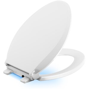 Cachet Nightlight Quiet Close With Grip Tight Elongated Front Toilet Seat