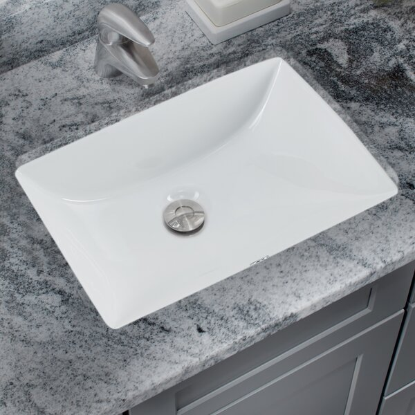 Soleil Glazed Vitreous China Rectangular Undermount Bathroom Sink With Overflow Reviews Wayfair