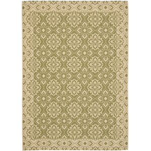 Lynn Green/Creme Outdoor Area Rug