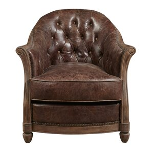 Tarheel Leather Barrel Chair by Highway To H..