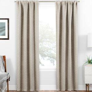 van siclen blackout thermal rod pocket single curtain panel