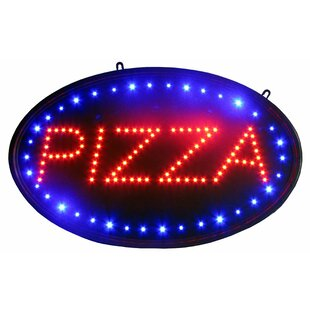 Pizza LED Sign Hanging Lamp