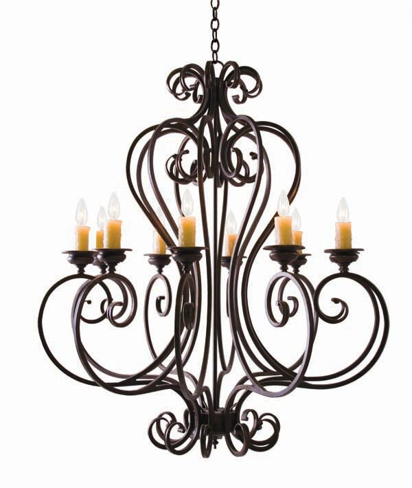 Fernando 10-Light Candle-Style Chandelier