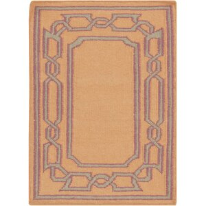 Clancy Tangerine Geometric Area Rug