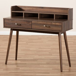 Gentil West Wick Mid Century Modern 2 Drawer Rectangular Secretary Desk
