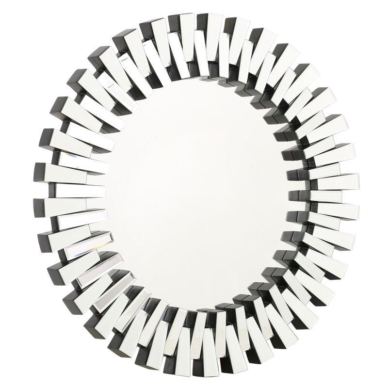 Willa Arlo Interiors Deniece Sunburst Round Wall Mirror