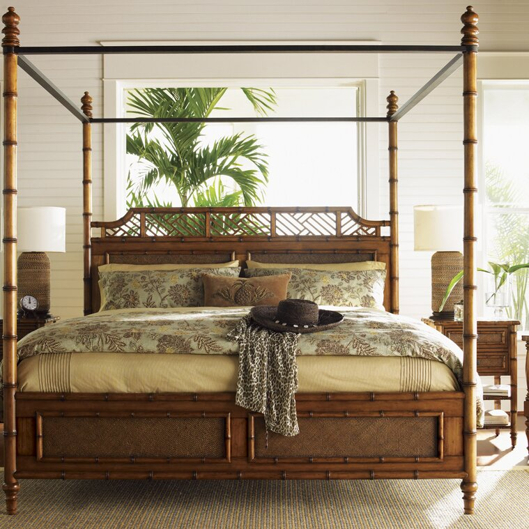 Four Post Canopy Bed tommy bahama home island estates canopy bed & reviews | wayfair
