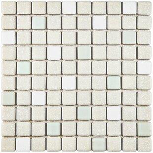 Minerva 1 X Porcelain Mosaic Tile In Pistachio