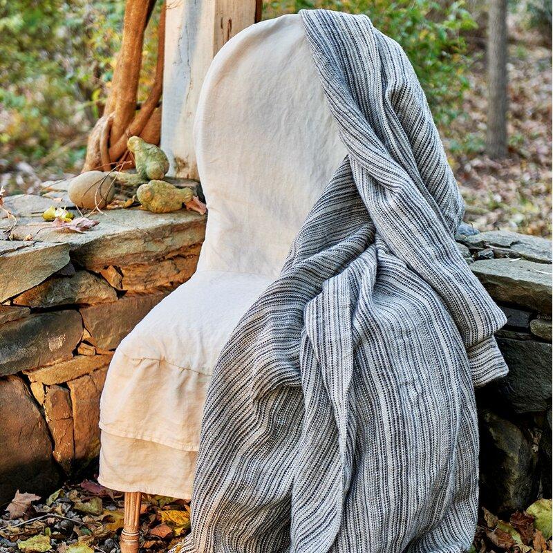 Traditions Linens Lindsey Linen Blanket | Wayfair on