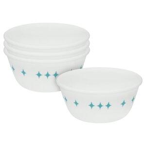 Vintage Charm Rise N' Shine 12 oz. Dessert Bowl (Set of 4)