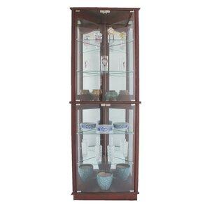 Randalstown Lighted Corner Curio Cabinet