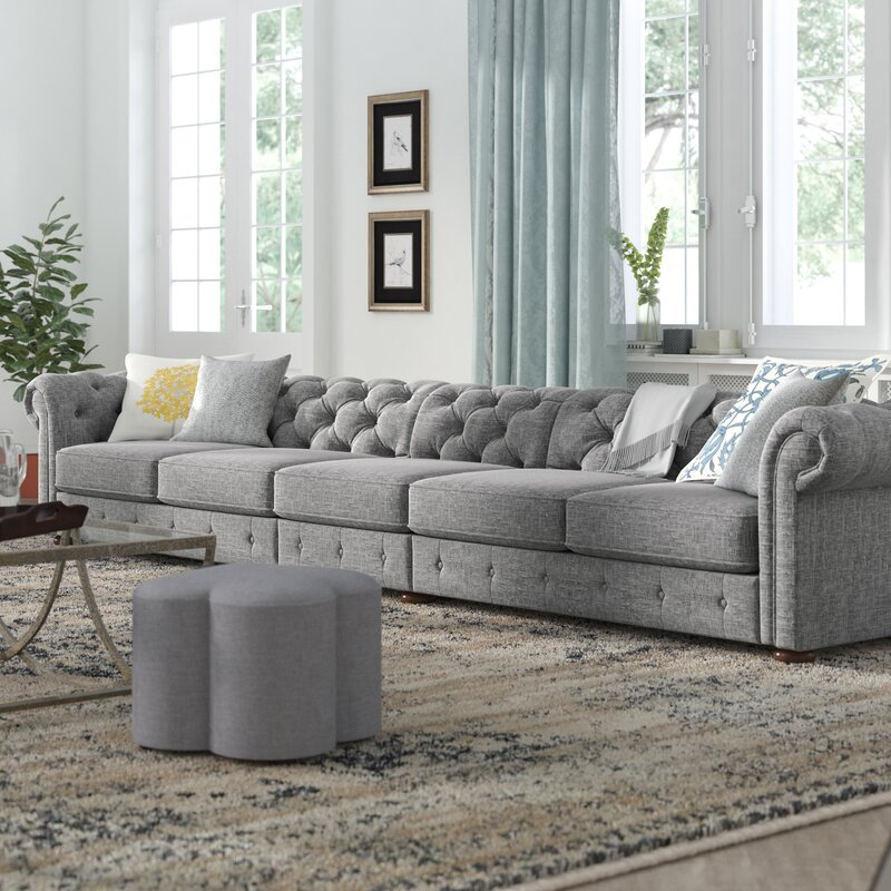 Gowans 6-Seater Button-Tufted Chesterfield Sofa