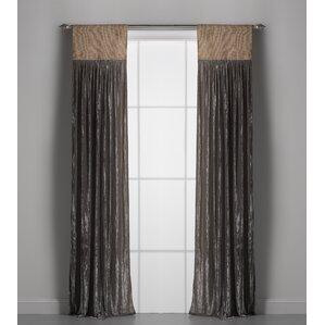 Luscious Solid Semi Sheer Rod Pocket Single Curtain Panels