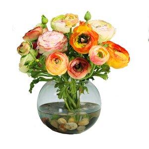 Ranunculus Floral Arrangement in Decorative Vase