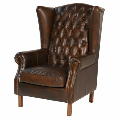 Old World Antique Leather Wingback Chair  sc 1 st  Wayfair & Joseph Allen Old World Antique Leather Wingback Chair | Wayfair