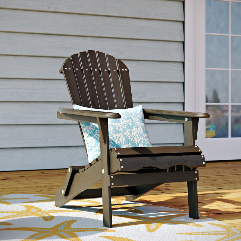 Cuyler Solid Wood Folding Adirondack Chair
