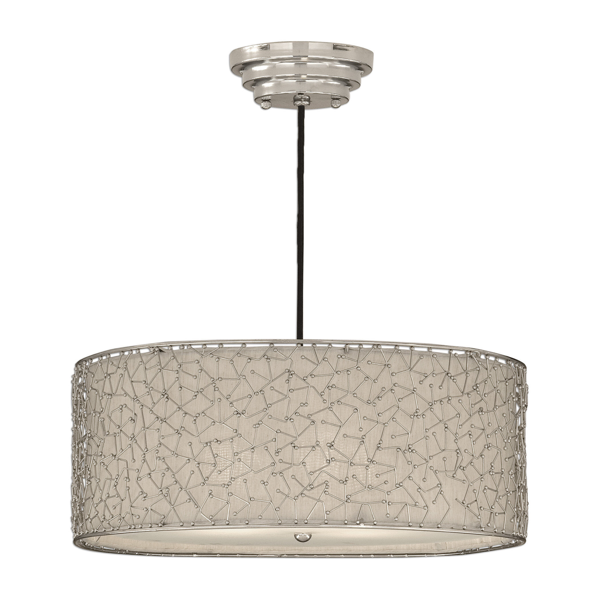 pagazzi linen shade light drum lighting ceiling pendant natural tier