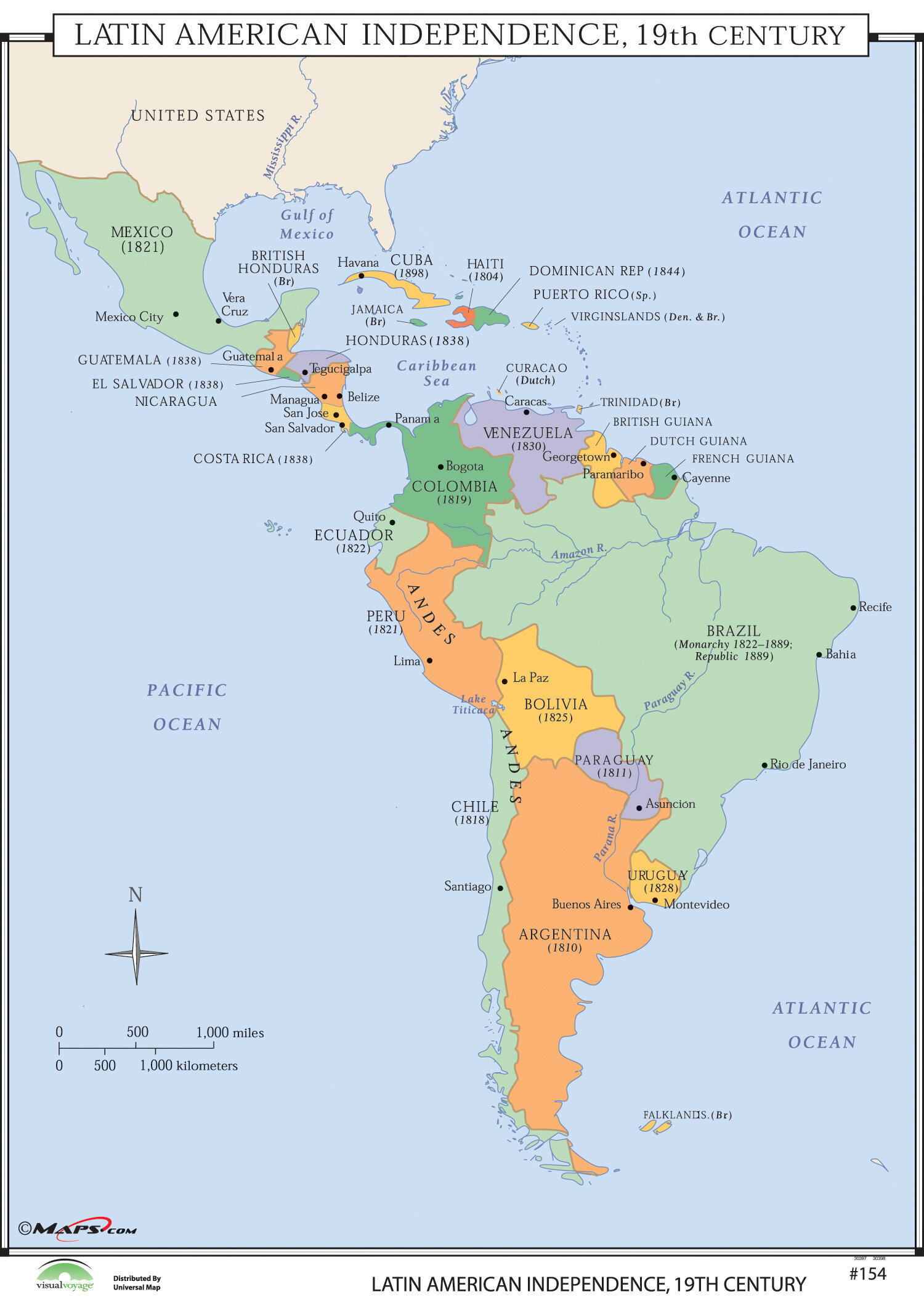 Universal map world history wall maps latin american independence universal map world history wall maps latin american independence wayfair gumiabroncs Image collections