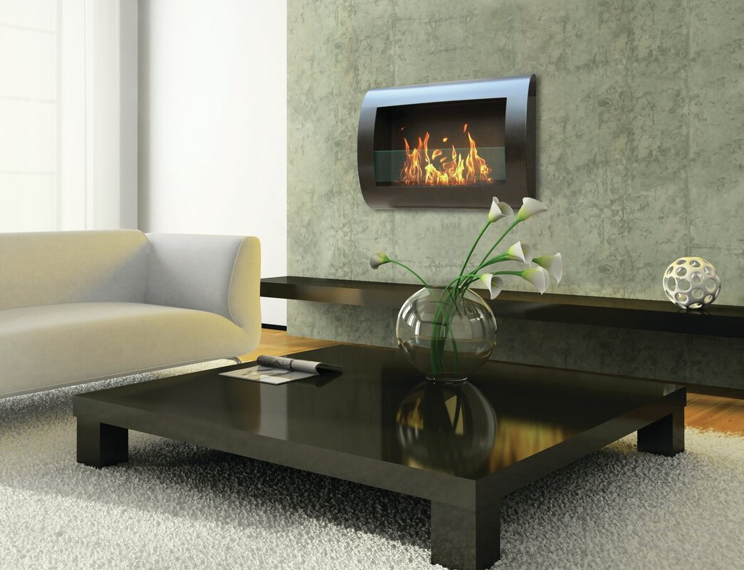 Chelsea Wall Mounted Bio-Ethanol Fireplace