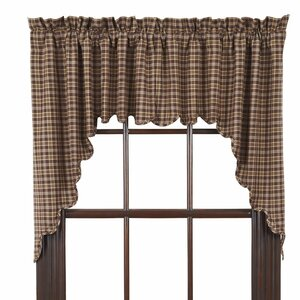 Isabell Scalloped Lined Curtain Valance (Set of 2)
