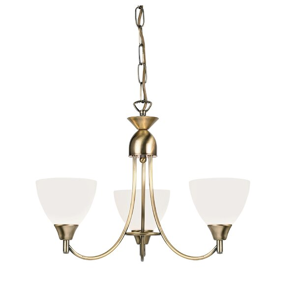Endon Lighting 3 Light Petite Chandelier & Reviews