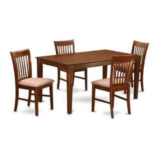 Smyrna 5 Piece Solid Wood Dining Set