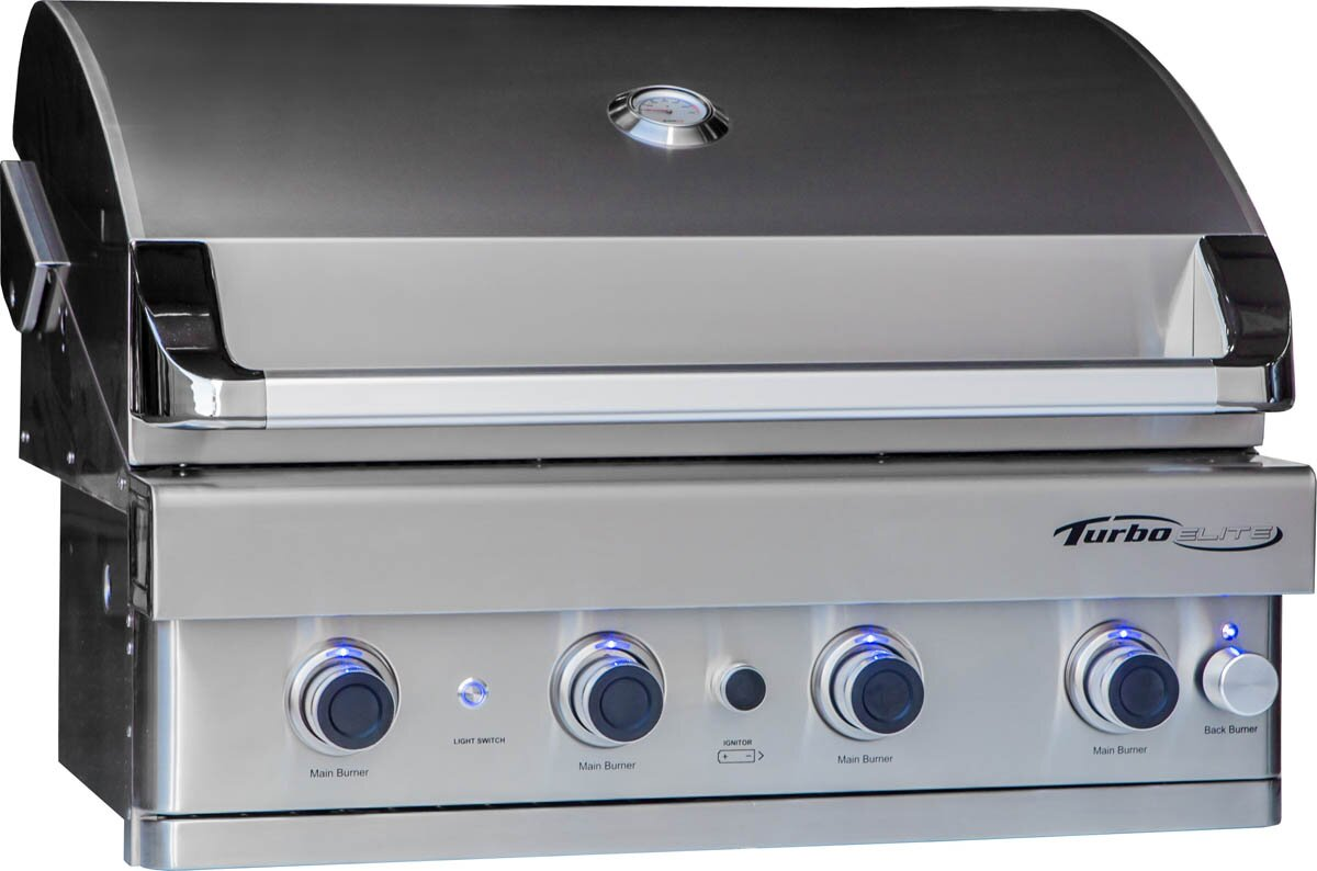 Barbeques Galore Turbo Elite 4-Burner Built-In Gas Grill & Reviews ...