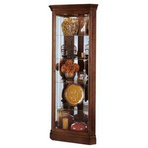 Lynwood Lighted Corner Curio Cabinet