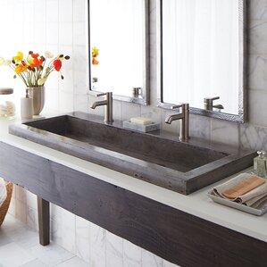 Stone 48 Trough Bathroom Sink
