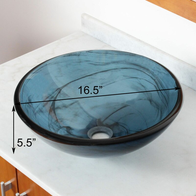 Bathroom Sinks Glass Bowls elite double layered tempered glass bowl circularvessel bathroom