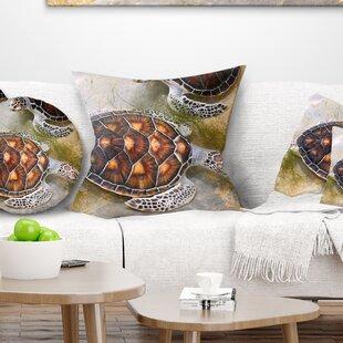 Animal Sea Turtles In Nursery Pillow