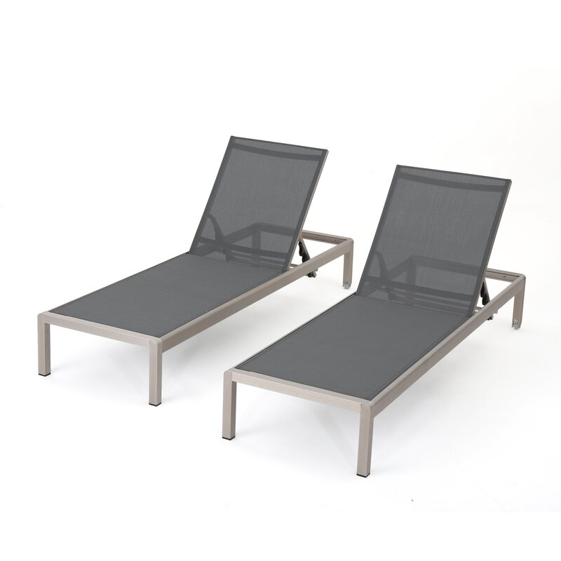 Modern Outdoor Lounge Furniture: Orren Ellis Lacon Modern Outdoor Mesh Chaise Lounge
