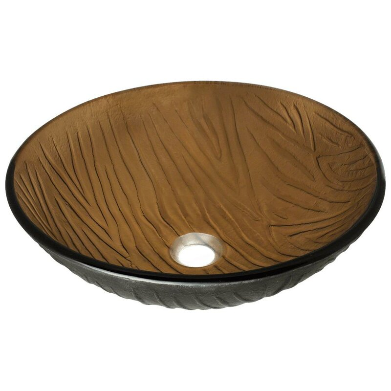 MRDirect Beach Sand Glass Circular Vessel Bathroom Sink & Reviews ...
