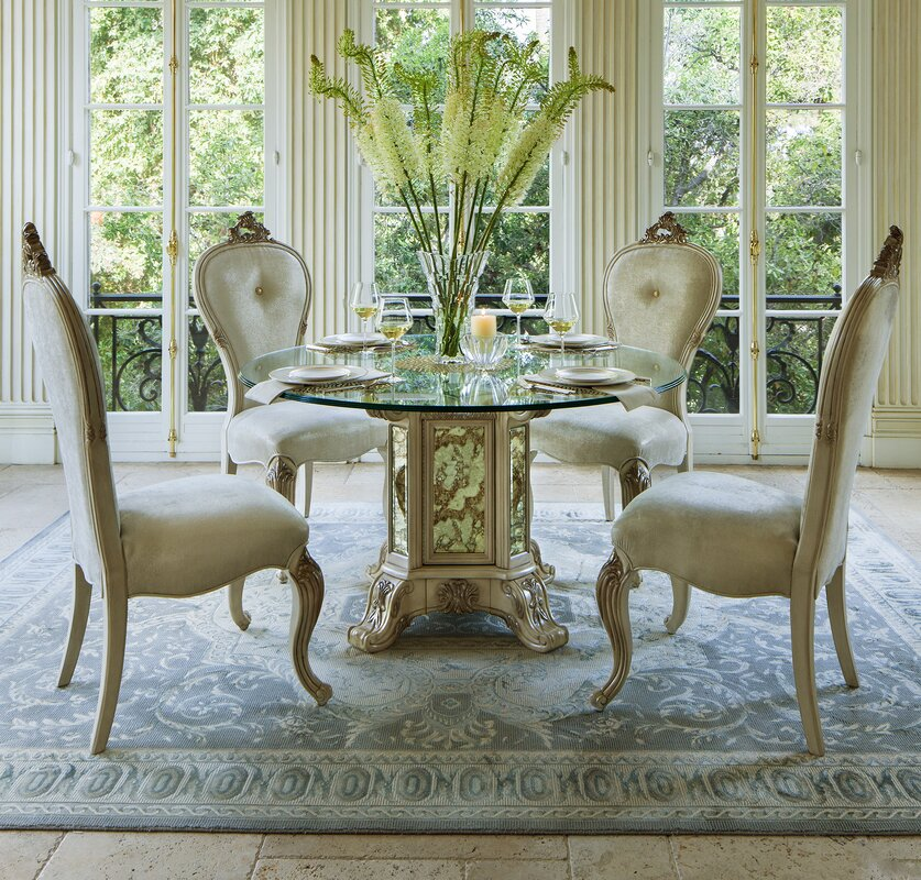 Michael Amini Platine De Royale Side Chair & Reviews | Wayfair