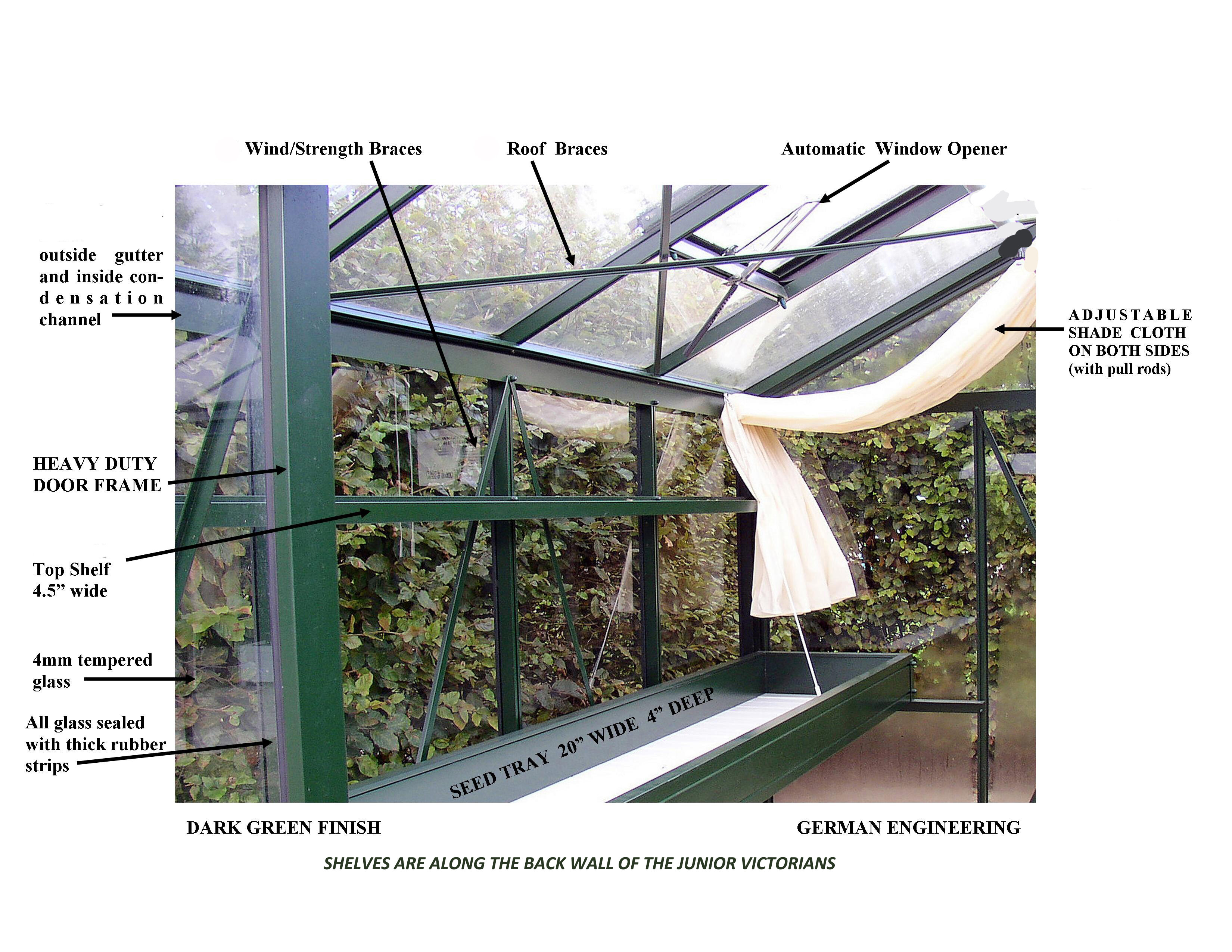 Janssens of Belgium Junior Victorian Greenhouse Accessories Kit