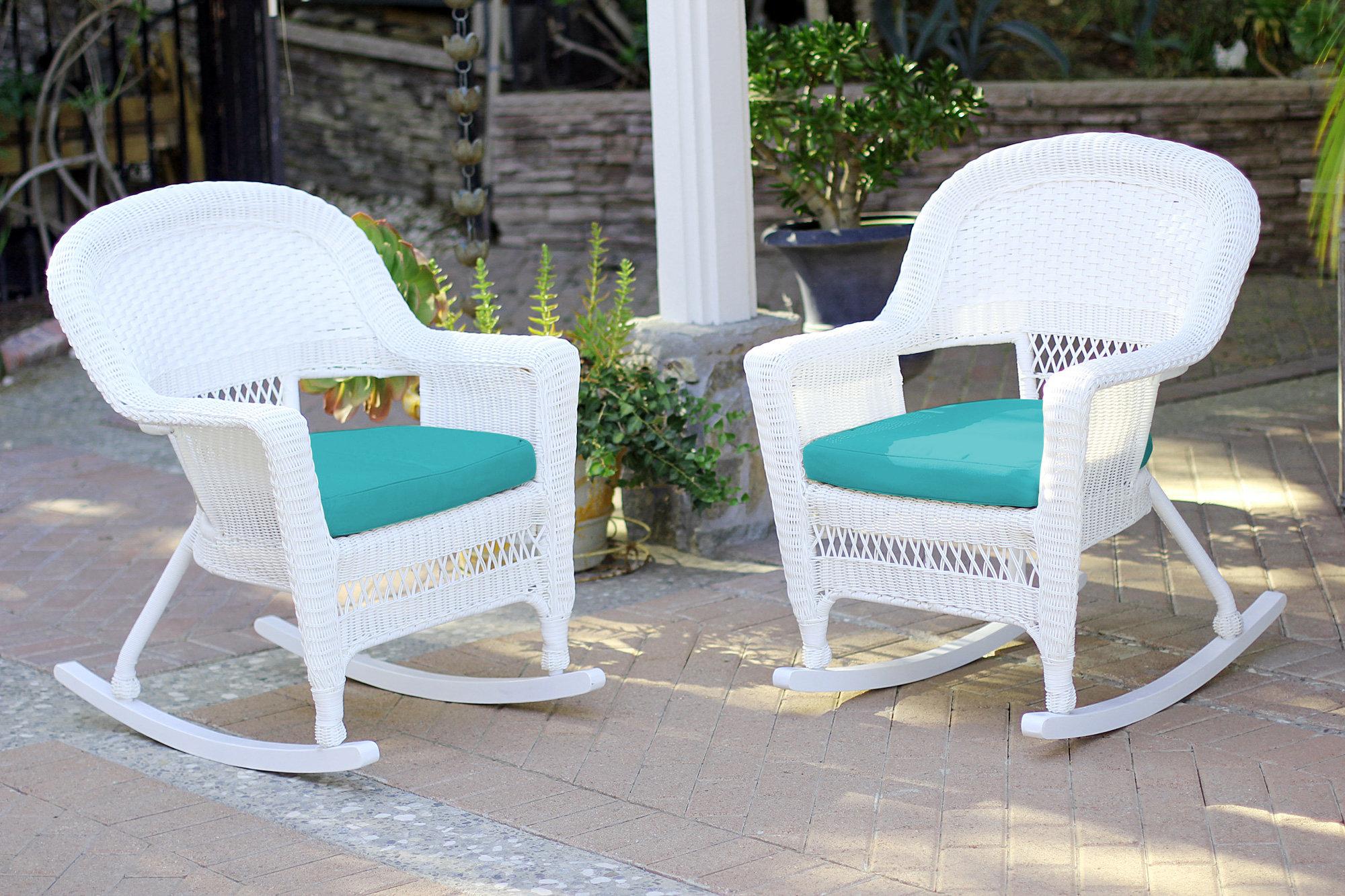 Three Posts Burtch Wicker Rocking Chairs U0026 Reviews | Wayfair