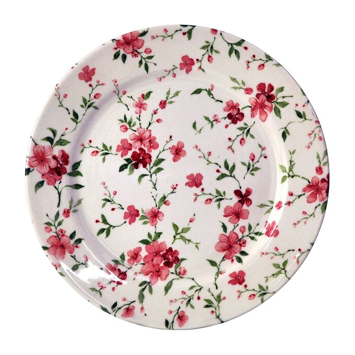 Royal Summer Flowers 24 Piece Porcelain Dinnerware Set Service for 6  sc 1 st  Wayfair & TudorEngland Royal Summer Flowers 24 Piece Porcelain Dinnerware Set ...